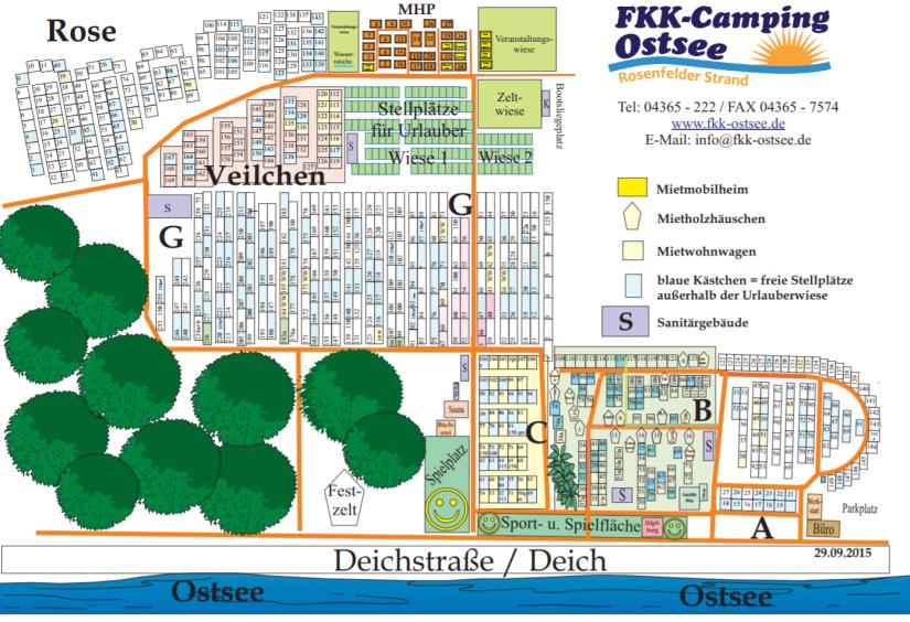 Wohnnwagenfamilie - Stellplatzplan